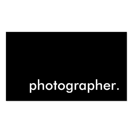 fotógrafo tarjetas de negocios