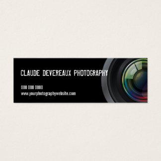 Fotógrafos cosechados de la lente de cámara tarjeta de visita pequeña