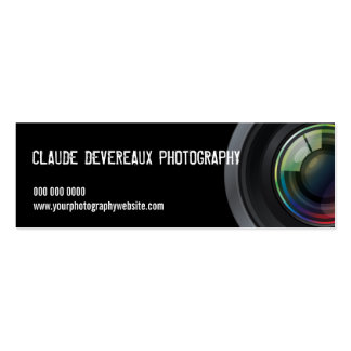 Fotógrafos cosechados de la lente de cámara tarjetas de visita mini