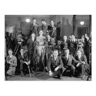 Fotógrafos de prensa, 1929 postal