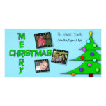Fotos coloridas caprichosas del triple del árbol d tarjeta personal