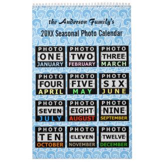 Fotos de familia de encargo estacionales bonitas calendarios