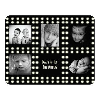 Fotos de familia de la tarjeta del día de fiesta invitación 10,8 x 13,9 cm