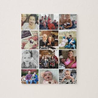 Fotos de familia del collage de la foto puzzle