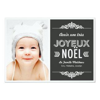 Fotos de Noël de las cartas de la O.N.U message de Invitación 12,7 X 17,8 Cm