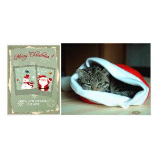 Fotos de Santa y de la tarjeta escarchada de la
