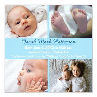 Fotos del azul 4 - invitación del nacimiento
