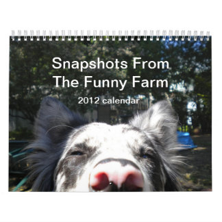 Fotos del calendario de la granja divertida 2012