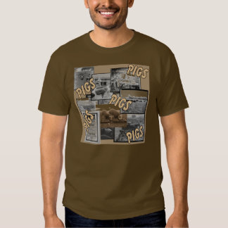Fotos del cerdo del vintage camiseta
