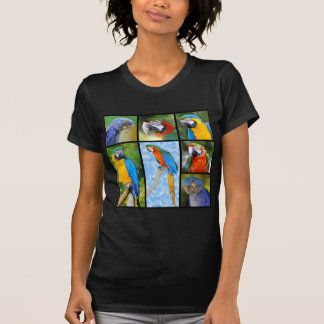Fotos del mosaico de loros camiseta