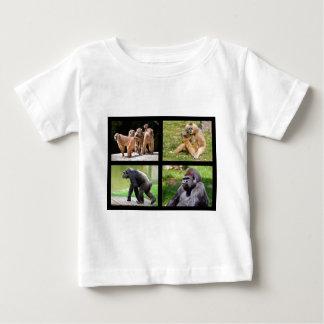 Fotos del mosaico de monos camiseta de bebé