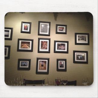 Fotos en la pared alfombrilla de ratón