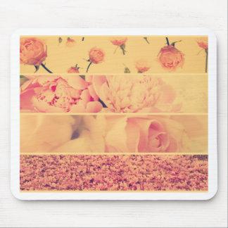 Fotos florales del collage del vintage del estilo  alfombrilla de ratón
