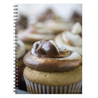 Fotos graduales de las magdalenas de la libro de apuntes
