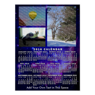 Fotos mensuales de la nebulosa 3 del espacio del póster