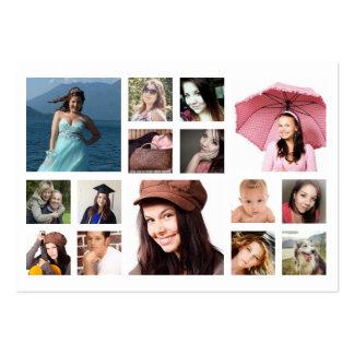 Fotos múltiples en rejilla cualquier fotografía tarjetas de visita grandes