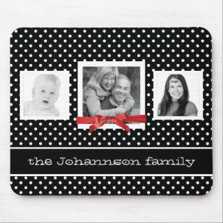 Fotos y lunares personalizados de familia alfombrilla de ratón