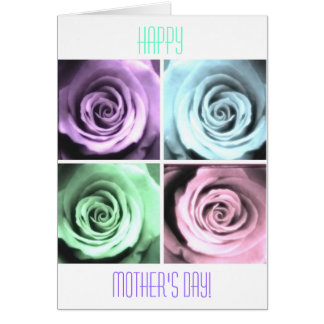 Foursome de la tarjeta feliz del día de madre de l