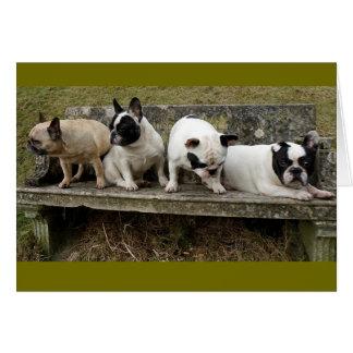 Foursome del dogo francés de Howgillhounds Tarjeta De Felicitación