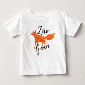 Fox cero dado camiseta de bebé