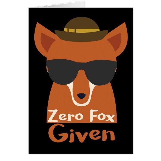 Fox cero dado tarjeta de felicitación