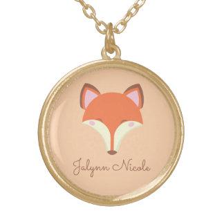 Fox de Kawaii Collar Dorado