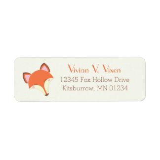 Fox de Kawaii Etiqueta De Remitente
