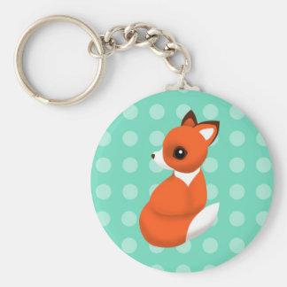 Fox de la polca llavero redondo tipo chapa