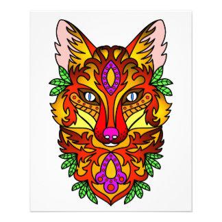 Fox del animal folleto 11,4 x 14,2 cm