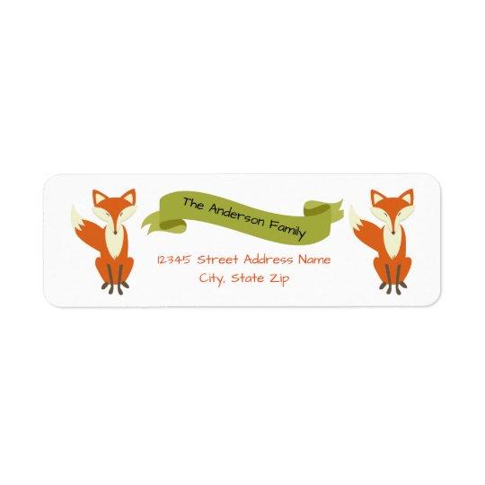 Fox del arbolado - Etiquetas de dirección