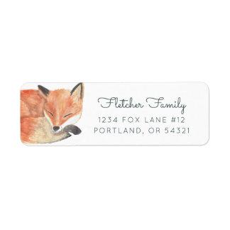 Fox del invierno etiqueta de remitente