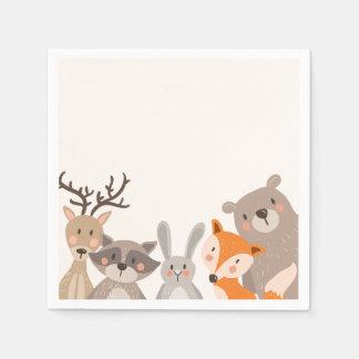 Fox del oso del bosque de los animales de la servilletas desechables