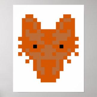 Fox del pixel posters