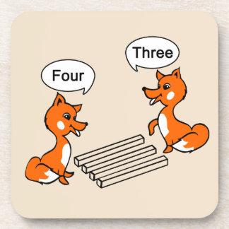 Fox del truco de la ilusión óptica posavasos
