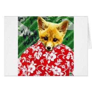 Fox hawaiano tarjeta de felicitación