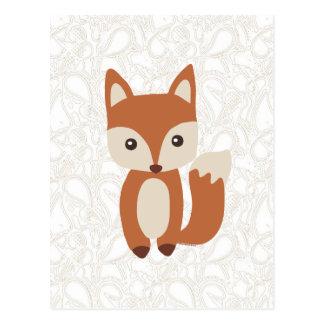 Fox lindo del bebé tarjeta postal