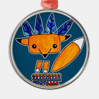 Fox lindo del ejemplo de la acuarela. Animal Adorno De Cerámica