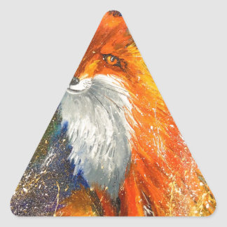 Fox Pegatina Triangular