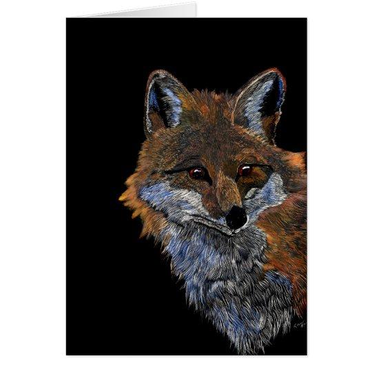 Fox rojo tarjeta pequeña