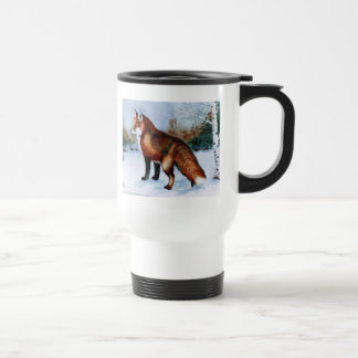 Fox rojo taza de viaje