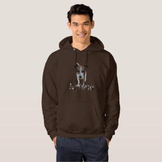Fox terrier con el logotipo, sudadera con capucha