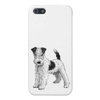 Fox terrier de la caja 5/5s del teléfono del perro iPhone 5 cobertura