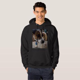 Fox terrier, sudadera con capucha negra para