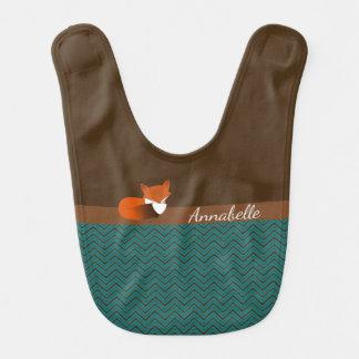 Fox tímido personalizado babero