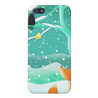 Fox y cuervo - caso del iphone iPhone 5 protector