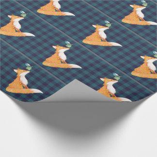 Fox y papel de envoltorio para regalos nosy de los