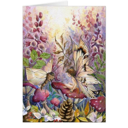 Foxglove carmesí tarjeta pequeña