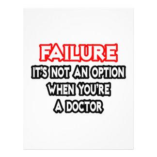 Fracaso… no un doctor de la opción… tarjetones