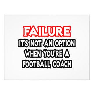 Fracaso… no un entrenador de fútbol de la opción… comunicado personal