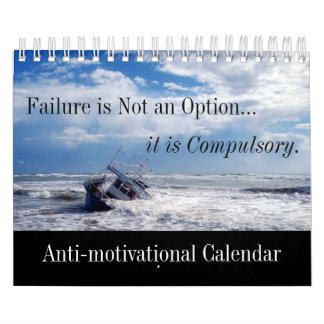 Fracaso y absurdo Anti-de motivación chistosos Calendario De Pared